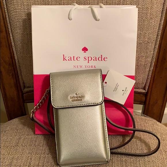 kate spade Handbags - Kate Spade Crossbody Pebbled Phone Case/bag